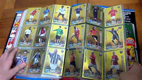 make a match attax card match attax 11 12 binder completed all cards golden