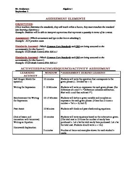lesson plan template danielson common lesson plan with danielson framework for