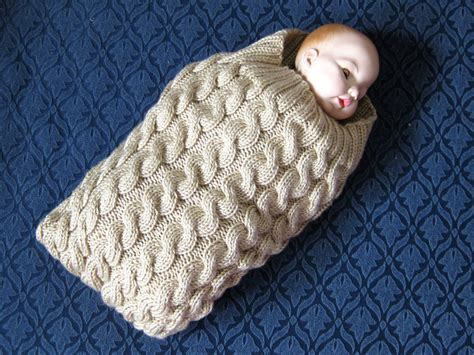 knitted baby cocoon knit cables baby cocoon pattern