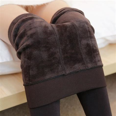 new autumn and winter fashion s plus velvet tights high quality knitted elastic waist slim