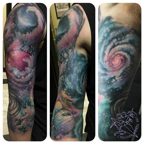 peter tattoo bandung colorful space 3 4 sleeve by christina walker tattoonow