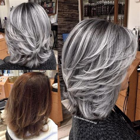foil hair colour suggestions silver smoke hair color hair colors ideas
