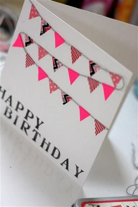 Simple Handmade Birthday Cards - handmade birthday cards pink lover