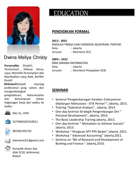 cara membuat resume in english cv