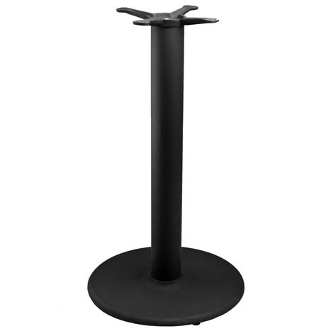 counter height table base tr18 black table base counter height 34 1 2 quot tablebases quality table bases metal