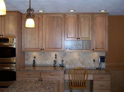 natural oak kitchen cabinets bertch legacy elite door style oak wood natural