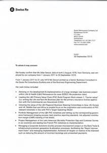 swiss re reference letter