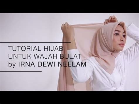tutorial berhijab untuk wajah kotak simple tapi cantik ini gaya hijab untuk pesta muslim