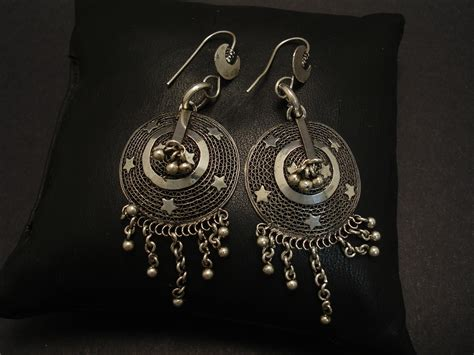 Handcrafted Silver Jewellery Australia - traditional handmade silver earrings christopher william