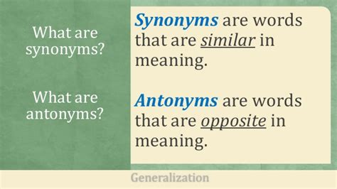 Brief Opposite Word 1st Qtr 18 Synonyms And Antonyms Of Common Words