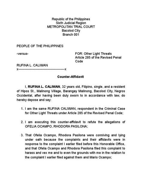 affidavit template south africa proof of residence counter affidavit affidavit complaint