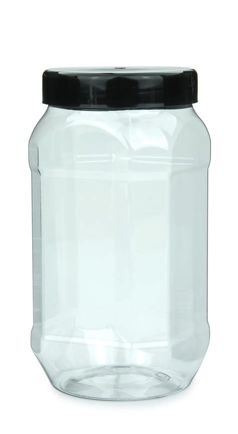 Jar Plastik 1000 Ml packari pet plastic jar octagonal 1000 ml 36 oz
