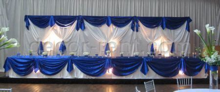 Backdrop Draping Ideas Decor Rent Com Royal Blue And White Satin Wedding Decor Toronto