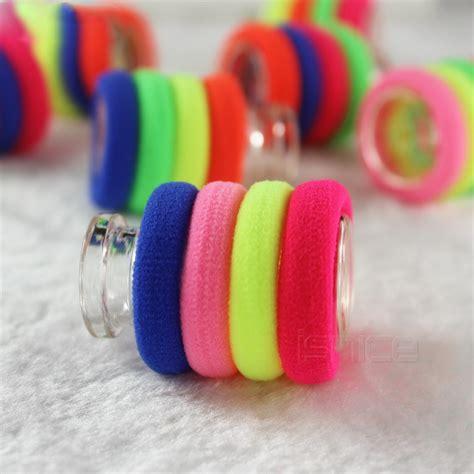 Ikat Rambut Mini Warna ikat rambut model rainbow 5pcs multi color