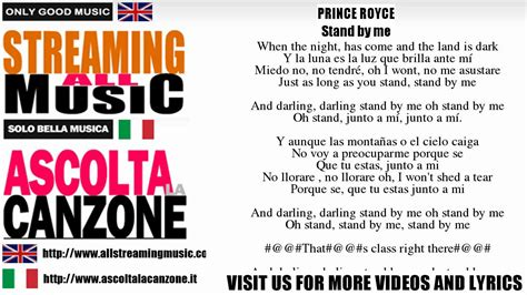 stand by me testo prince royce stand by me lyrics testo