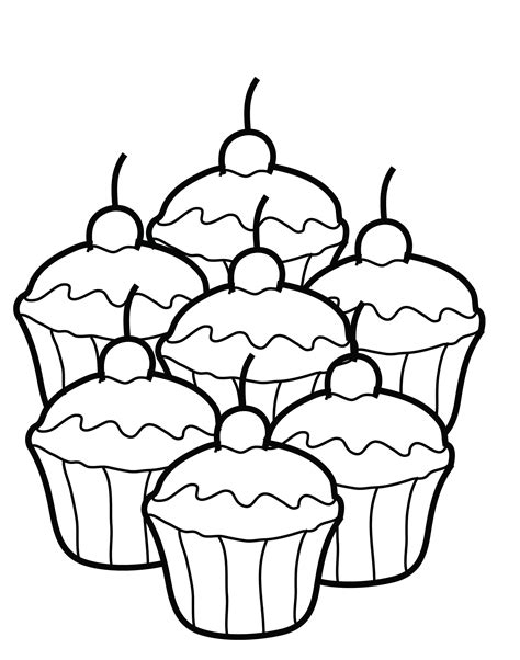 coloring pages cupcakes print free printable cupcake coloring pages for kids