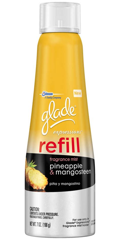 Mango Fruit Scentportable Refill glade expressions fragrance mist refill pineapple and mangosteen 7 ounce pack of