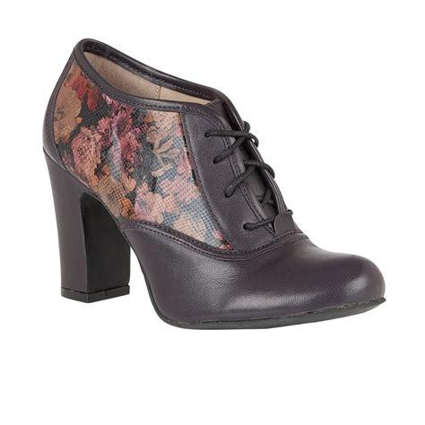 lotus hallmark lian purple leather floral print shoe