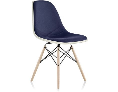 Eames Chair Base by Eames 174 Upholstered Side Chair With Dowel Base Hivemodern