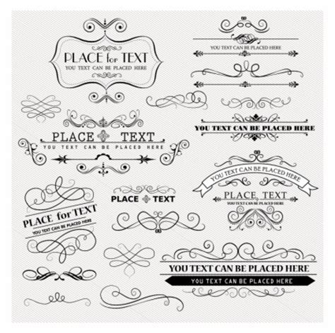 free font design elements free vector vintage design elements scroll design