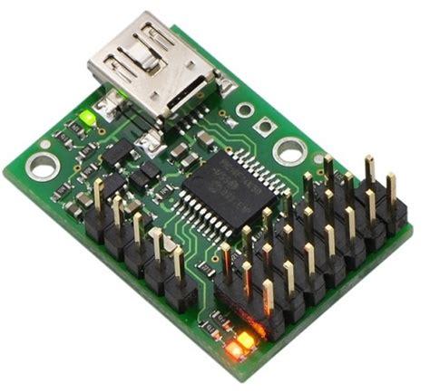 Usb Controller micro maestro 6 channel usb servo controller assembled 1350 pololu