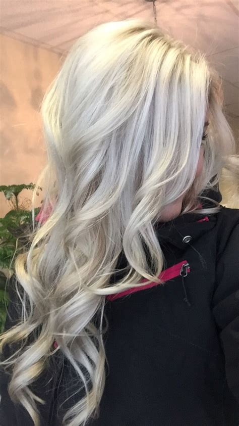 silver and blond hair colors platinum blonde with silver hair pinterest hair icy