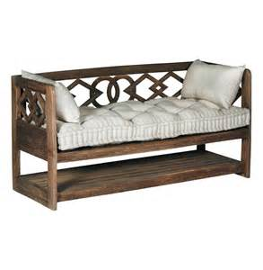 Wood Bench With Storage Modena Tufted Linen Rustic Wood Seating Bench Storage Kathy Kuo Home