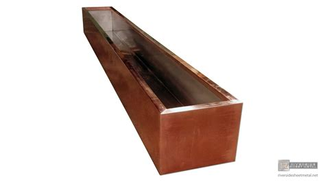 Copper Planter Boxes by Copper Flower Box With Stainless Steel Liner And Drains