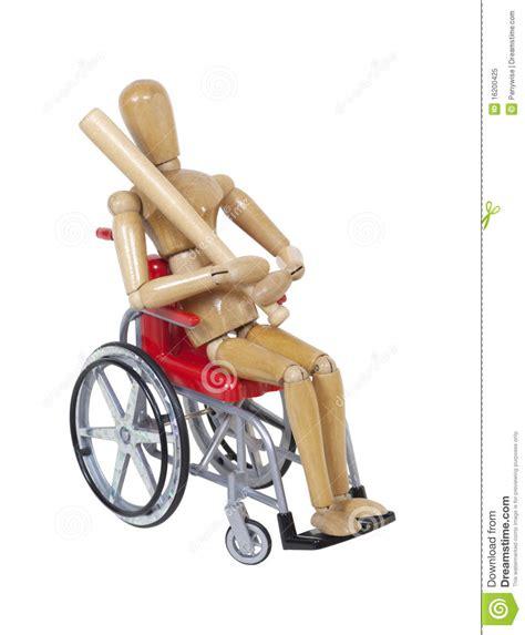 re pour fauteuil roulant se reposer dans un fauteuil roulant avec une batte de baseball photo libre de droits image