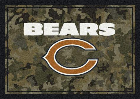 chicago bears area rug milliken area rugs nfl camo rugs 03016 chicago bears milliken area rugs nfl team rugs