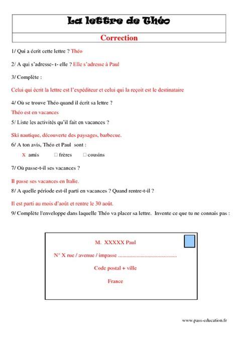 Exemple Lettre Administrative Cycle 3 La Lettre Ce2 Lecture Textes Prescriptifs Fonctionnels Cycle 3 Pass Education