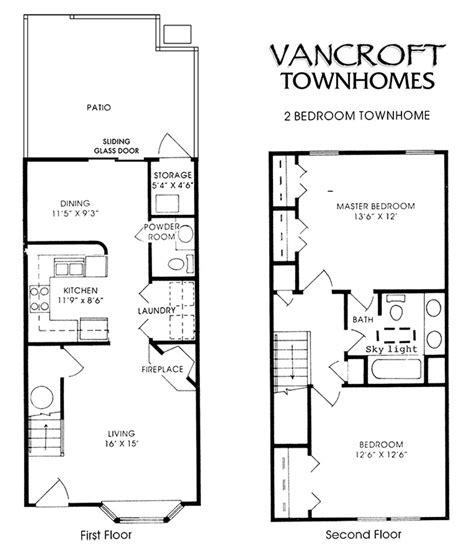 2 bedroom unit floor plans vancroft townhomes index