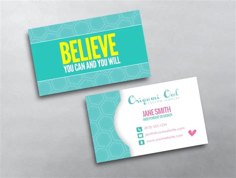 origami card template origami owl business card 17