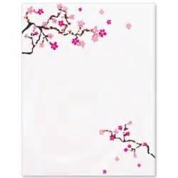 Cherry blossom letter paper