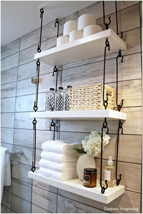 Hanging Bathroom Shelves 10 Cool Ways To Decorate With Suspended Shelving