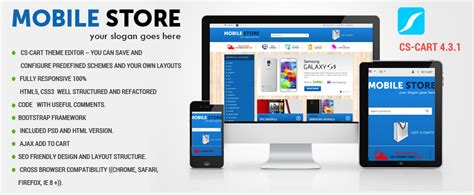 Themes Mobile Store | mobile store cs cart v 4 2 4 premium template by g3themes