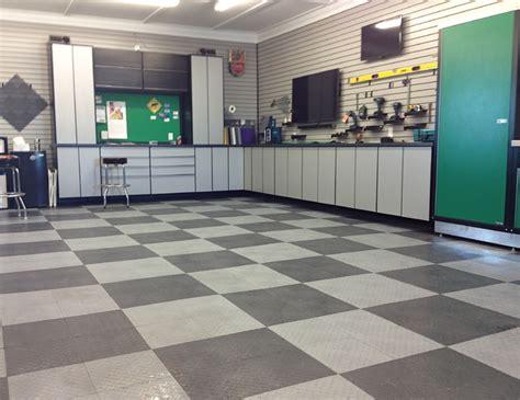 home garage workshop with racedeck garage flooring wall top 28 tile flooring salt lake city racedeck garage