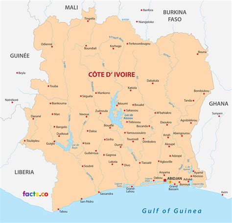 ivory coast map c 244 te d ivoire ivory coast map with cities blank outline map of ivory coast