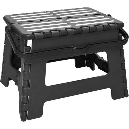Foldable Step Stool Walmart by Simplify Striped Folding Step Stool With Handle Walmart