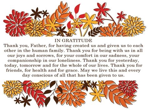 Wedding Blessings Wishes Sle by Thanksgiving Dinner Grace Blessings 100 Images A