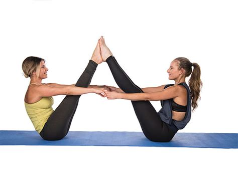 double boat pose buddy up and try these 2 person yoga poses success