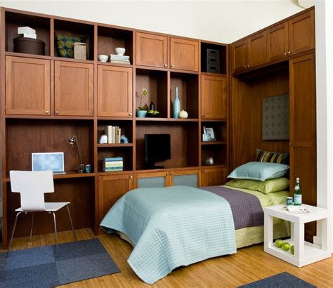 Dual Purpose Living Room Office Dual Purpose Home Office With Wall Bed Open
