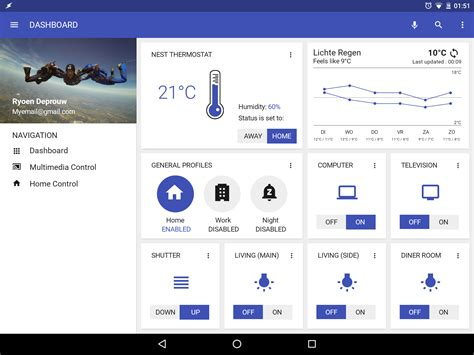 home automation homescreen uplabs