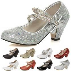 girls kids childrens low heel party wedding mary jane