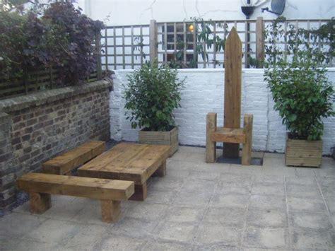 Sleeper Garden Furniture by Roy S Garden Furniture From New Railway Sleepers