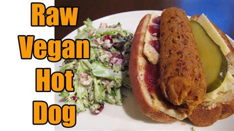 vegan tattoo eating hot dog raw vegan hot dog recipe mouthwatering youtube