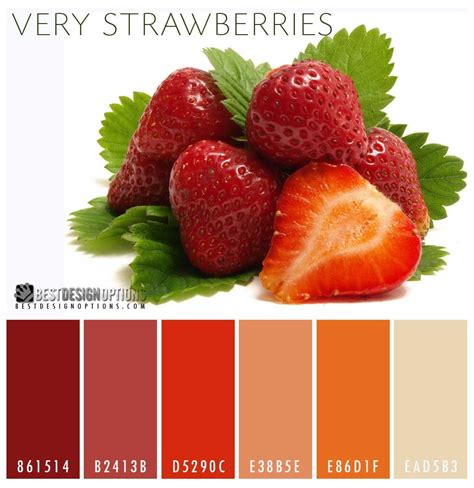 strawberry color strawberry color palette colour color strawberry