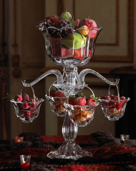Centerpieces For Tables by Table Centerpiece Idea Crystal Epergne At Horchow