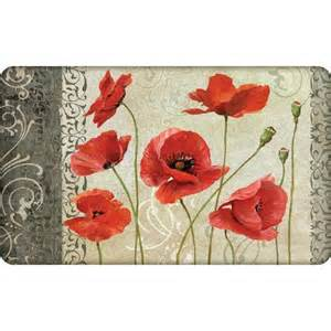 Poppy Kitchen Rug Better Homes And Gardens Velvet Poppies Cushion Comfort Kitchen Mat Multi Color Other Home