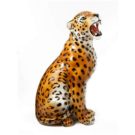 Animal Figurines Home Decor by Intrada Italy Leopard Statue 24 Quot H
